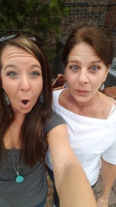 weird faces mom and I